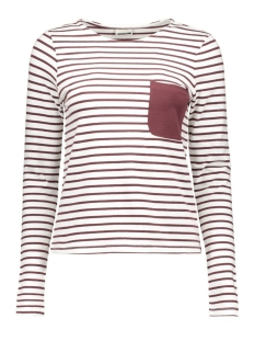 nmavery l/s short top 10167638 noisy may t-shirt bright white/with decad