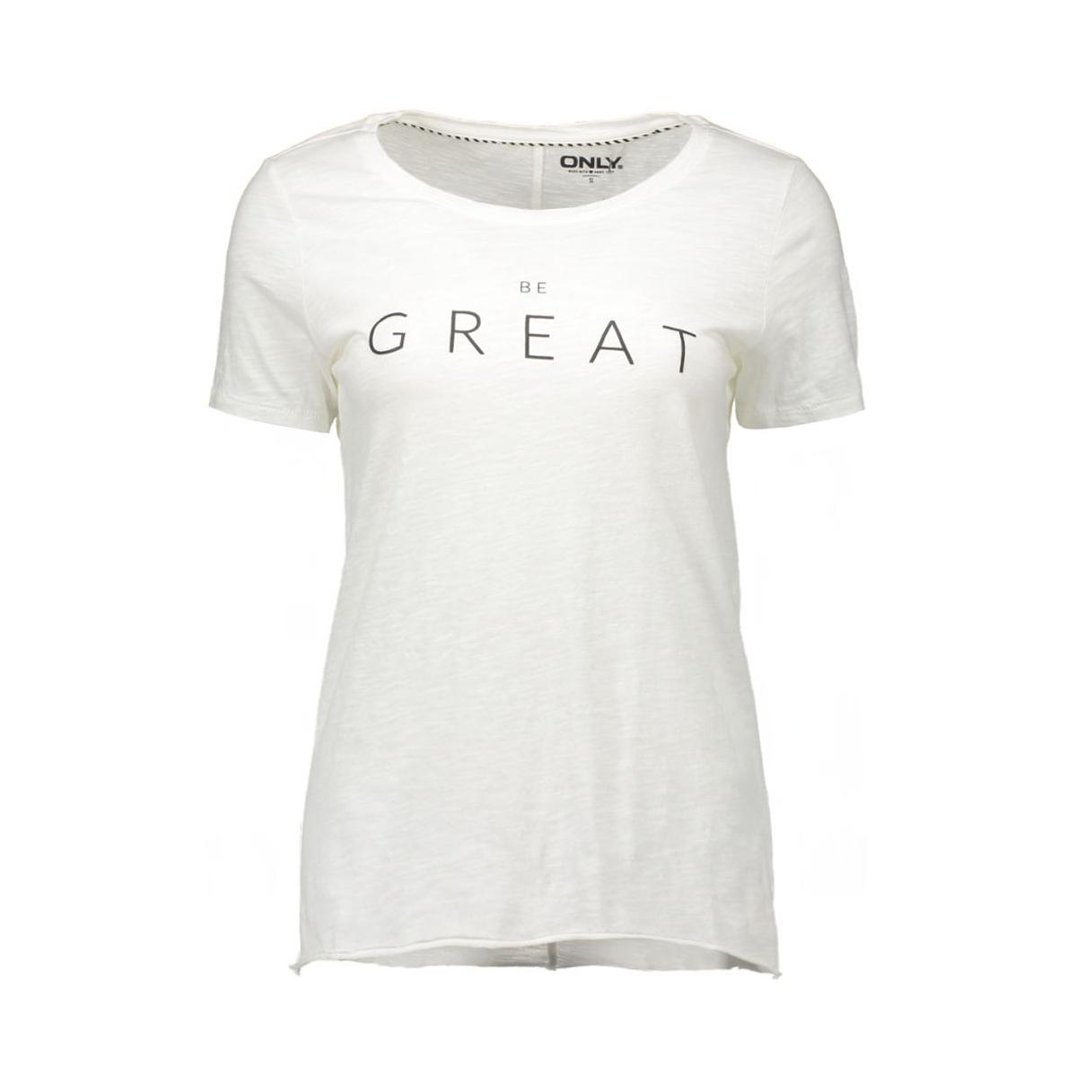 onlbone s/s raw print top box ess2 15127055 only t-shirt cloud dancer/great
