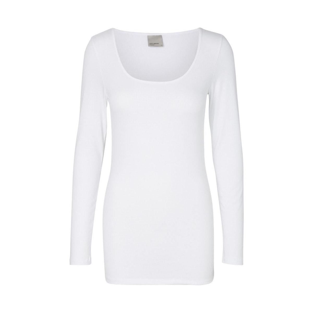 vmmaxi my ls soft long u-neck noos 10152908 vero moda t-shirt bright white