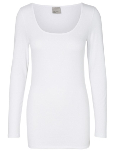 Vero Moda T-shirt VMMAXI MY LS SOFT LONG U-NECK NOOS 10152908 Bright White
