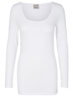Vero Moda T-shirt VMMAXI MY LS SOFT LONG U-NECK NOOS 10152908 Bright White