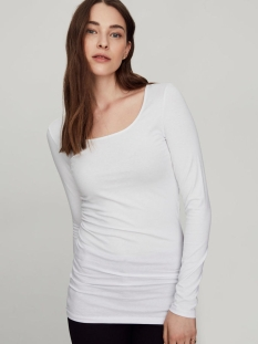 vmmaxi my ls soft long u-neck noos 10152908 vero moda t-shirt bright white