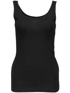 onllive love glimmer tank top noos 15101819 only top black/black w. b
