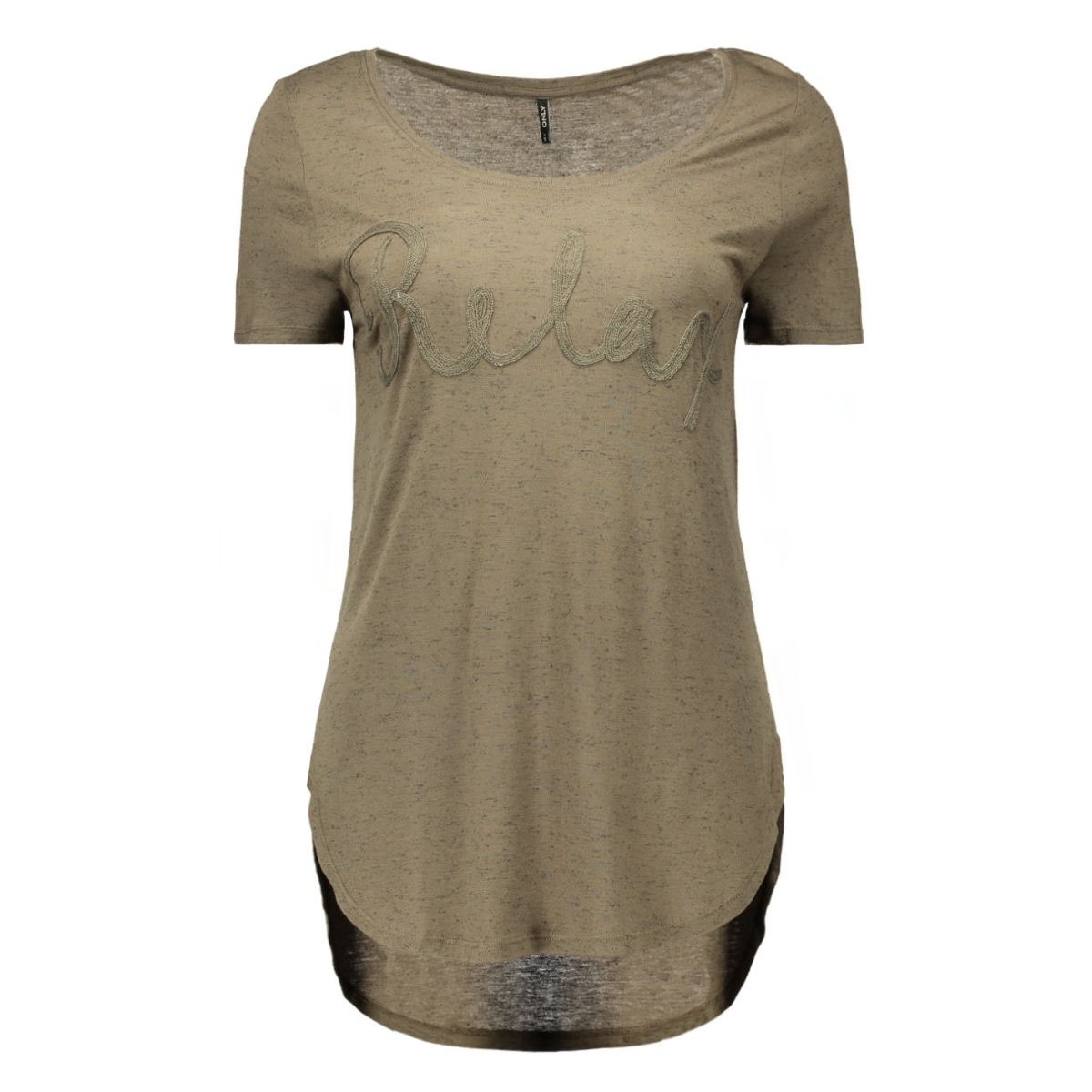onlhelle s/s top ess 15126957 only t-shirt tarmac/relax