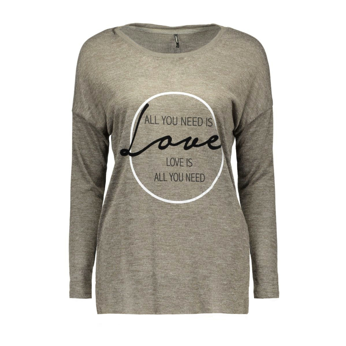 onlsomeday l/s top box ess 15125929 only t-shirt tarmac/love