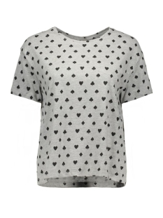 nmsharon s/s  oversize top 10162545 noisy may t-shirt light grey melange