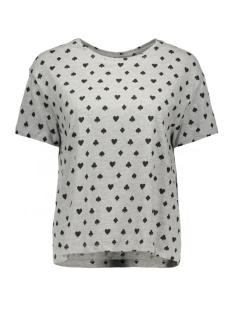Noisy may T-shirt NMSHARON S/S  OVERSIZE TOP 10162545 light grey melange