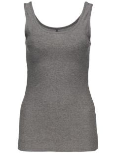 onllive love glimmer tank top noos 15101819 only top dark grey melan/with metal