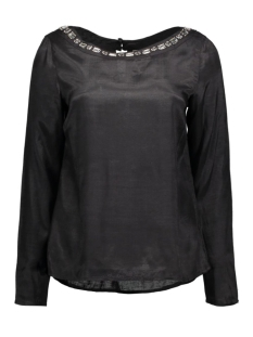 Vila T-shirts VIDECA L/S BOATNECK TOP 14040323 black