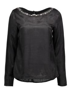 Vila T-shirt VIDECA L/S BOATNECK TOP 14040323 black