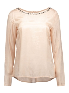 Vila T-shirts VIDECA L/S BOATNECK TOP 14040323 rose dust