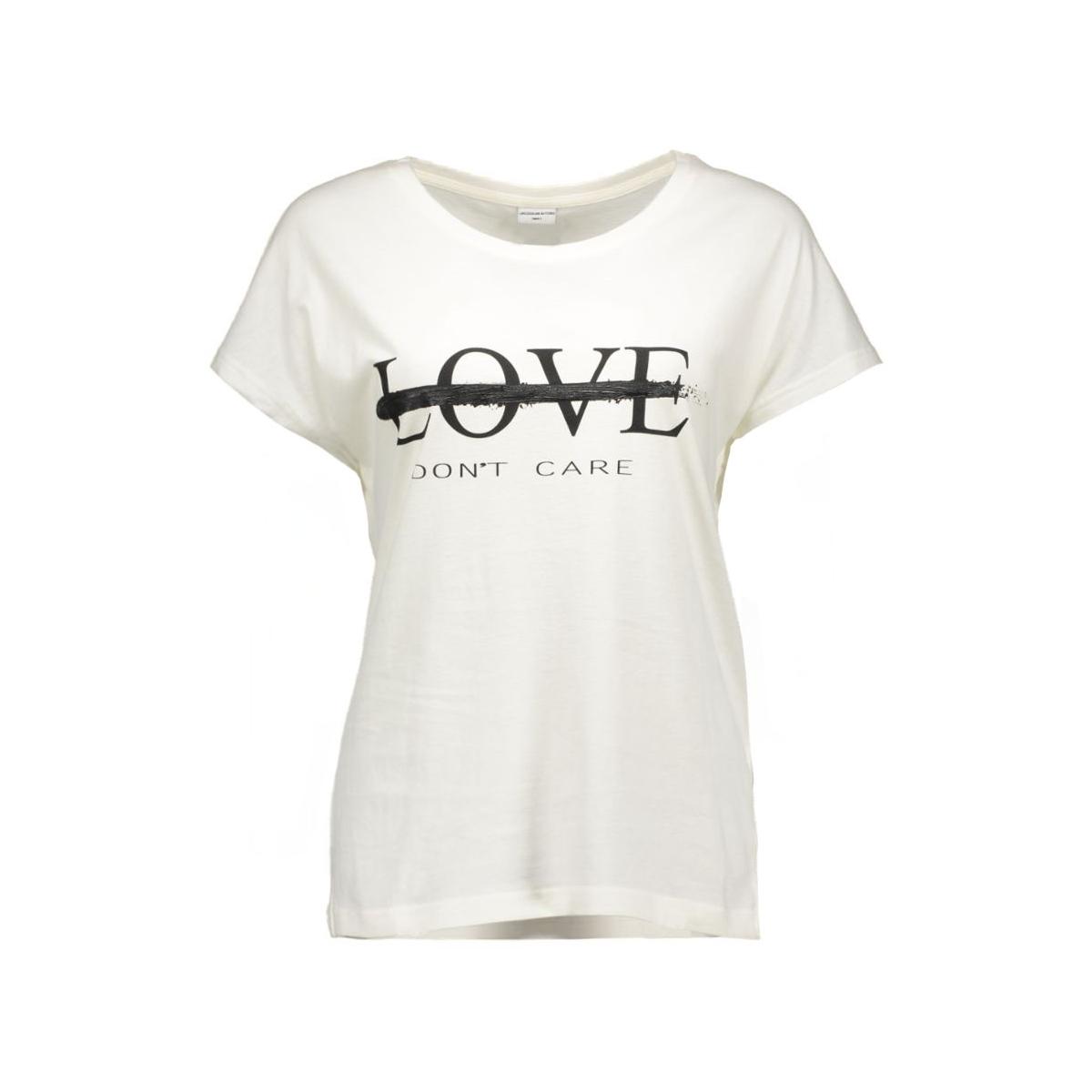 jdynora s/s top jrs 15120277 jacqueline de yong t-shirt cloud dancer/love