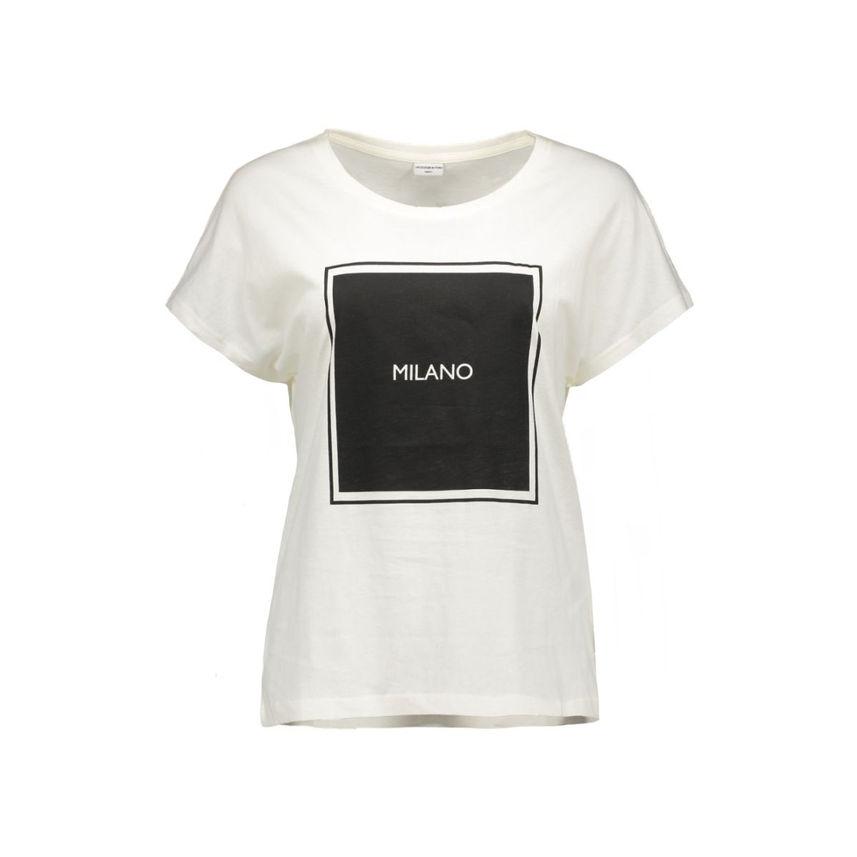 jdynora s/s top jrs 15120277 jacqueline de yong t-shirt cloud dancer/milano