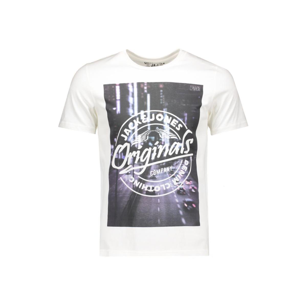 jortop tee ss crew neck 12112541 jack & jones t-shirt cloud dancer