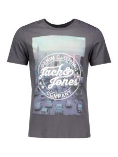 jortop tee ss crew neck 12112541 jack & jones t-shirt asphalt