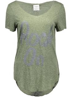 Vero Moda T-shirt VMLUA FOIL PRINT SS TOP BOX DNM JRS 10164609 Kombu Green