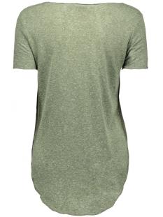 vmlua foil print ss top box dnm jrs 10164609 vero moda t-shirt kombu green