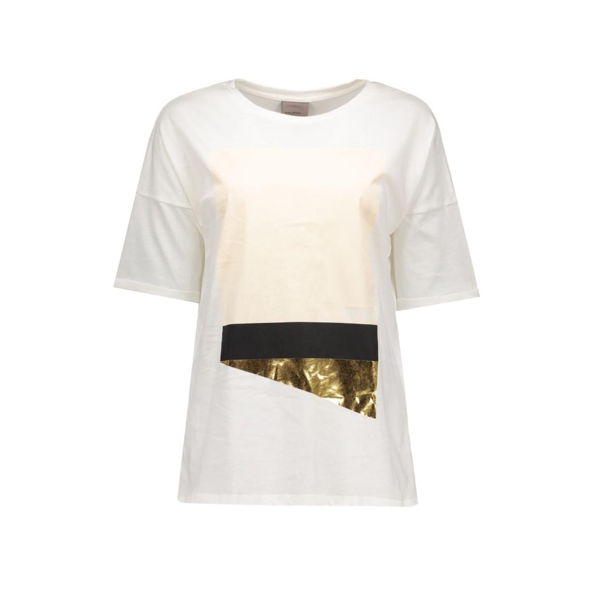 vmlulu printed s/s t-shirt e10 10168739 vero moda t-shirt snow white/907
