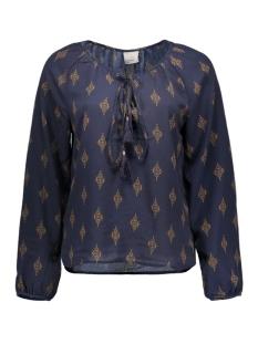 vmibi ethnic l/s top lcs 10162216 vero moda blouse navy blazer/adobe