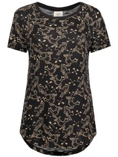 Vero Moda T-shirt VMMILINA HUNTER SS TOP BOX DNM JRS 10164695 Black