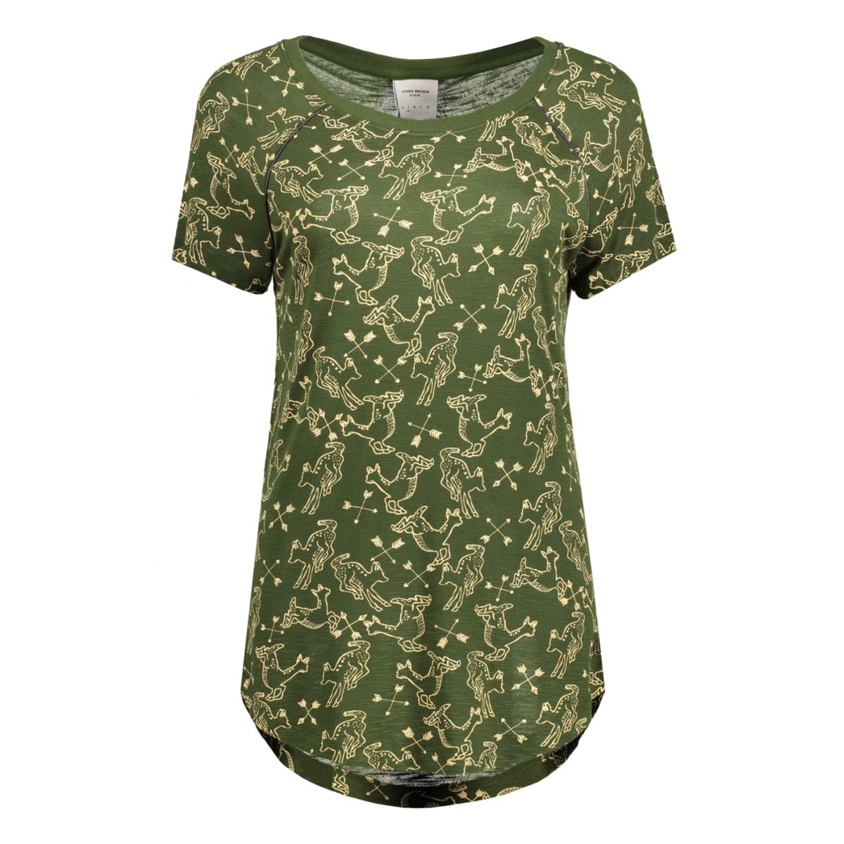 vmmilina hunter ss top box dnm jrs 10164695 vero moda t-shirt kombu green/hunter