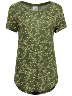 Vero Moda T-shirt VMMILINA HUNTER SS TOP BOX DNM JRS 10164695 Kombu Green/Hunter