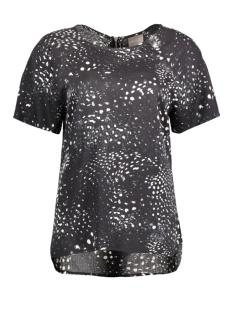 vmfirst animal ss top 10168980 vero moda t-shirt black/tea print