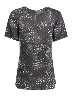 vmfirst animal ss top 10168980 vero moda t-shirt black/tea print