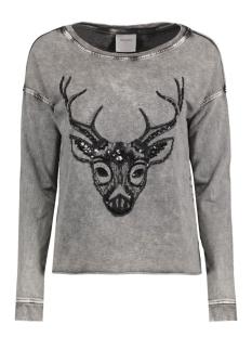 Vero Moda Sweaters VMMELINDA DEER LS SWEAT BOX DNM SWT 10164595 Black/Acid Wash