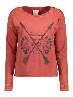 Vero Moda Sweaters VMMELINDA DEER LS SWEAT BOX DNM SWT 10164595 Fired Brick/Acid Wash