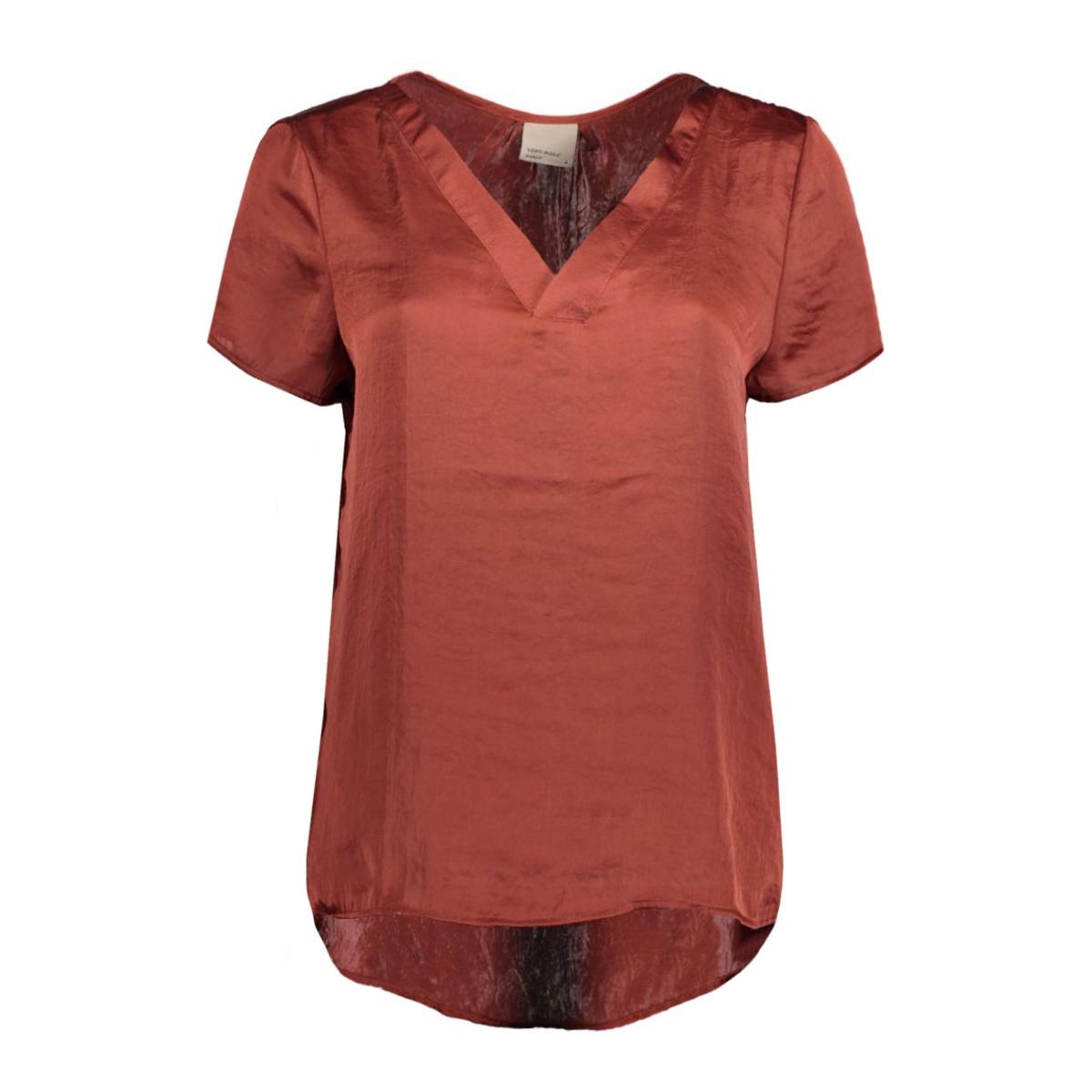vmhammer cap sleeve midi top a 10165228 vero moda t-shirt fired brick