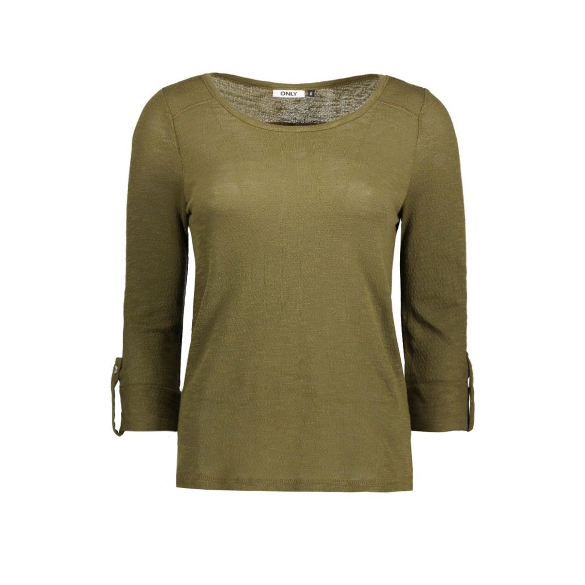 onljess 3/4 top jrs noos 15096632 only t-shirt dark olive