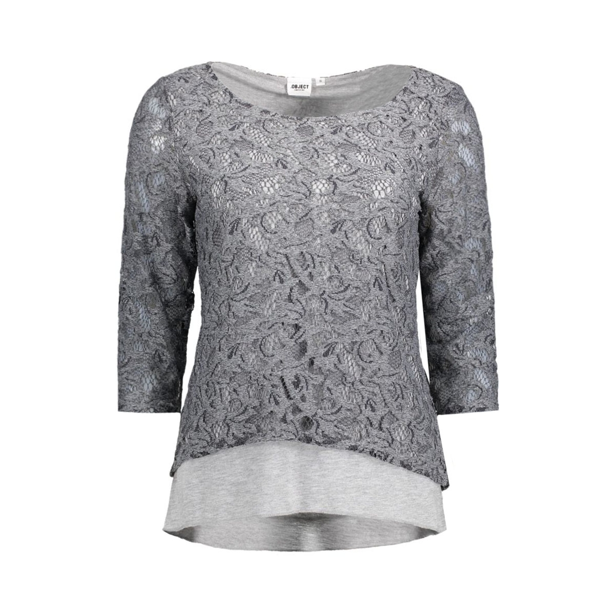 objmary 3/4 top 23023761 object t-shirt medium grey melange