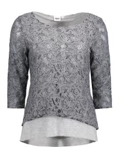 Object T-shirt OBJMARY 3/4 TOP 23023761 Medium Grey Melange