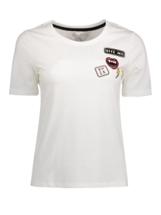 onlrocking cool patches s/s top box 15132965 only t-shirt white/bite me