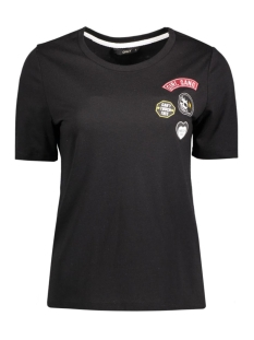onlrocking cool patches s/s top box 15132965 only t-shirt black/girl gang