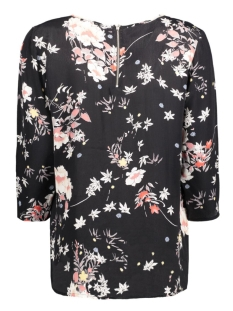 onlcinnamon 3/4 aop top wvn 15124306 only blouse black/rock flower