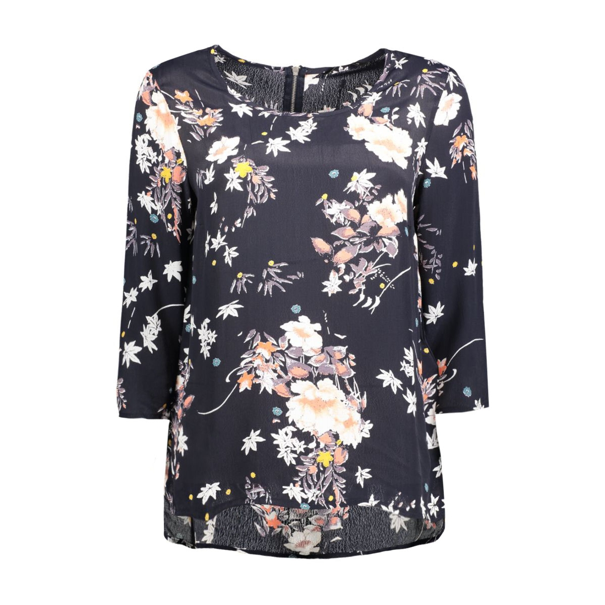 onlcinnamon 3/4 aop top wvn 15124306 only blouse night sky/rock flower