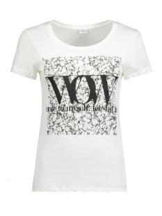 jdygin s/s print top jrs 09 15122948 jacqueline de yong t-shirt cloud dancer/black wow
