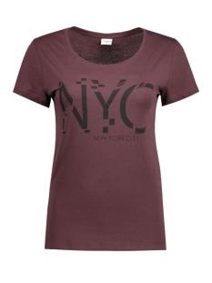 Jacqueline de Yong T-shirt JDYGIN S/S PRINT TOP JRS 09 15122948 Fudge/Black