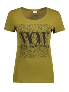 Jacqueline de Yong T-shirt JDYGIN S/S PRINT TOP JRS 09 15122948 Fir Green/Black Wow