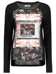 Only T-shirt onlWANDER L/S PHOTO TOP BOX JRS 15126882 Black/Wanderflor