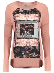 onlWANDER L/S PHOTO TOP BOX JRS 15126882 Ash rose/Wanderflor