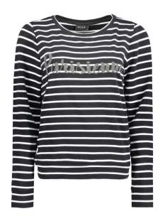 VITOPI STRIPE SWEAT TOP 14039528 Black