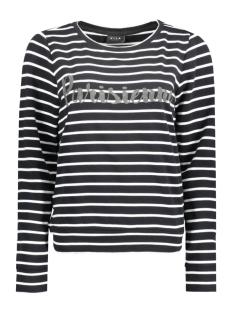 Vila T-shirt VITOPI STRIPE SWEAT TOP 14039528 Black