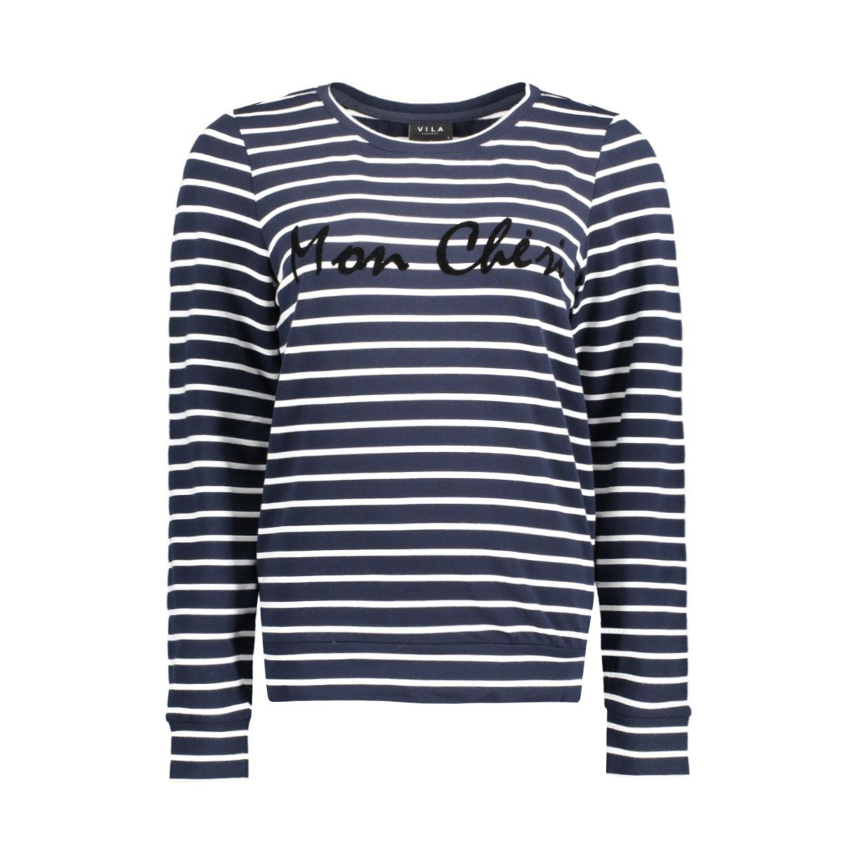 vitopi stripe sweat top 14039528 vila t-shirt total eclipse
