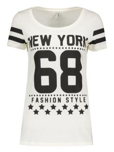 onlnew joli s/s top box ess 15135915 only t-shirt cloud dancer/new york