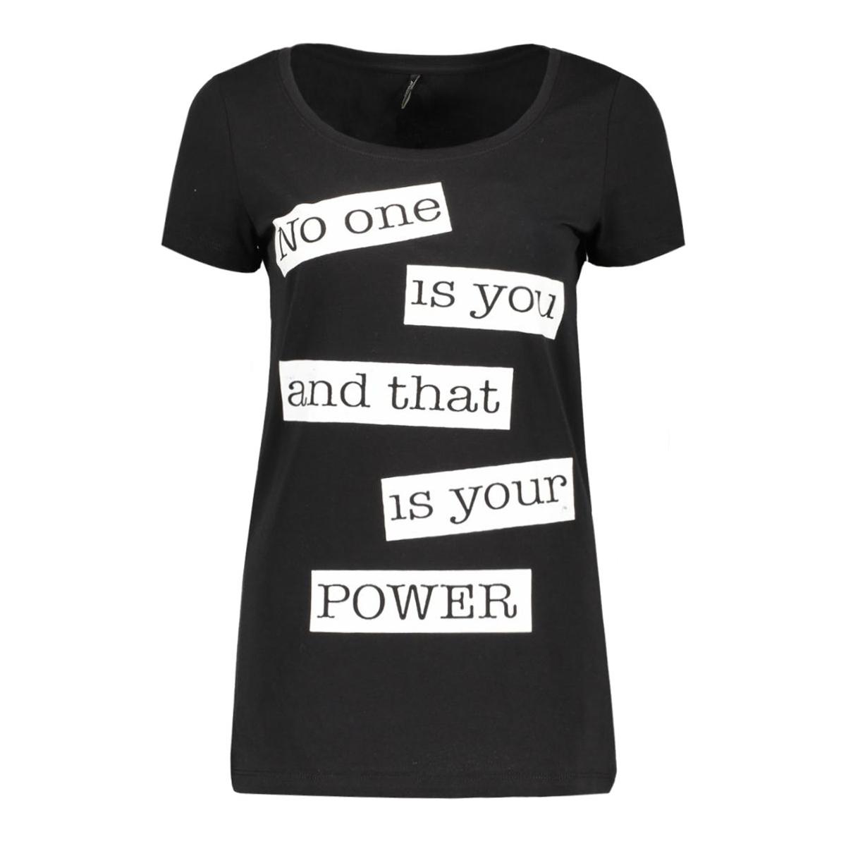 onlnew joli s/s top box ess 15135915 only t-shirt black/your power