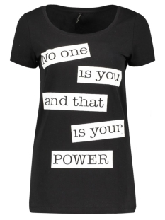 Only T-shirt onlNEW JOLI S/S TOP BOX ESS 15135915 Black/Your Power