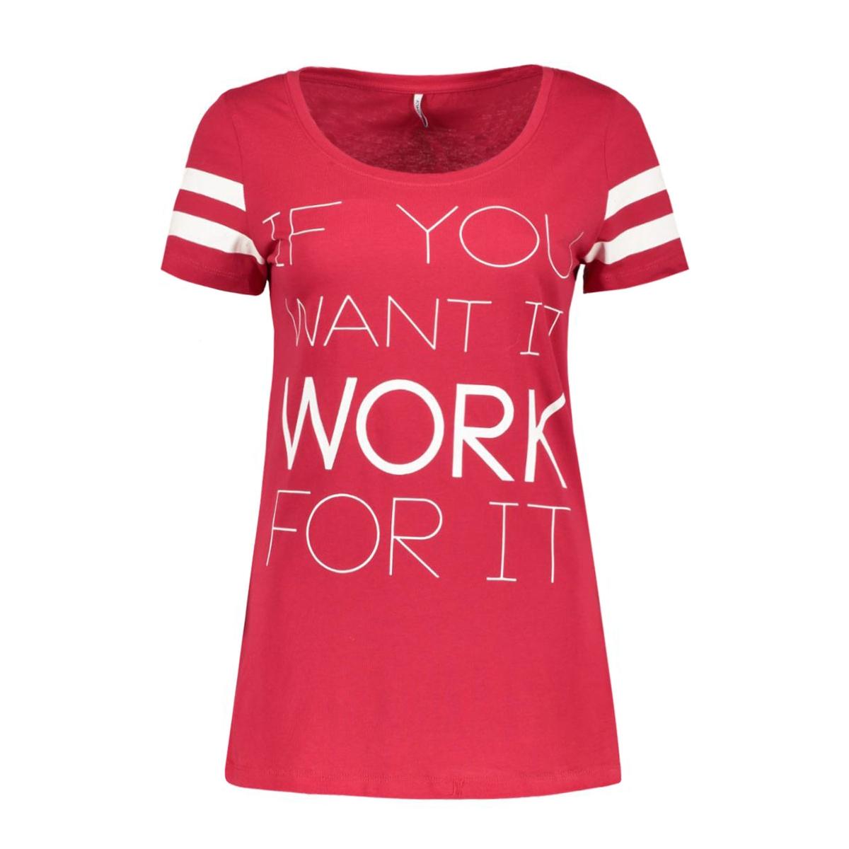 onlnew joli s/s top box ess 15135915 only t-shirt jeser red/work for it